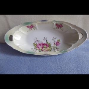 German Lusterware China Rose Pattern G. Wiegand